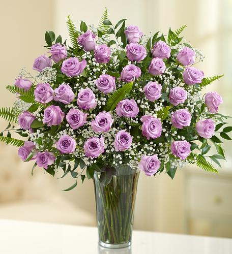 Rose Elegance Premium Long Stem 36 Purple Roses